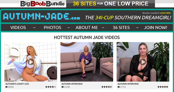 Top busty pornstar porn site for Autumn Jade fans